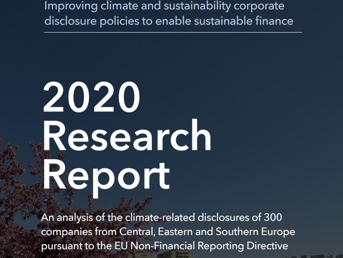 Analiza raportów niefinansowych 300 europejskich  przedsiębiorstw: polskie firmy nie monitorują  dostatecznie zagrożeń wynikających z ryzyk  klimatycznych