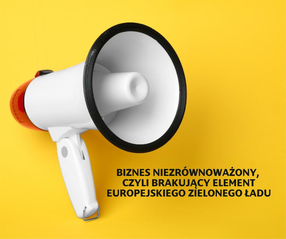 Biznes niezrównoważony, czyli brakujący element Europejskiego Zielonego Ładu
